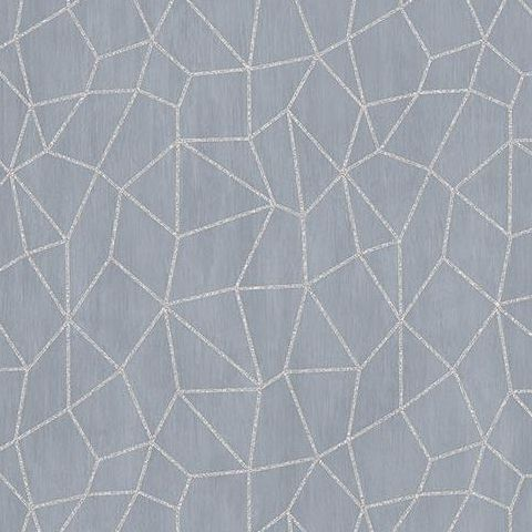 Galerie Special FX Wallpaper-Apex G67697 Porcelain/Silver