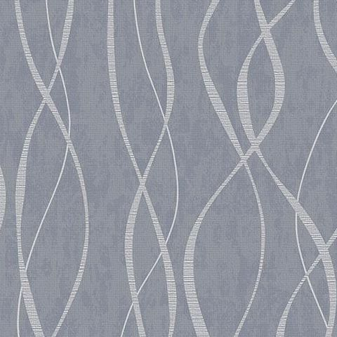Galerie Special FX Wallpaper-Twist  G67720 Petrol/Silver