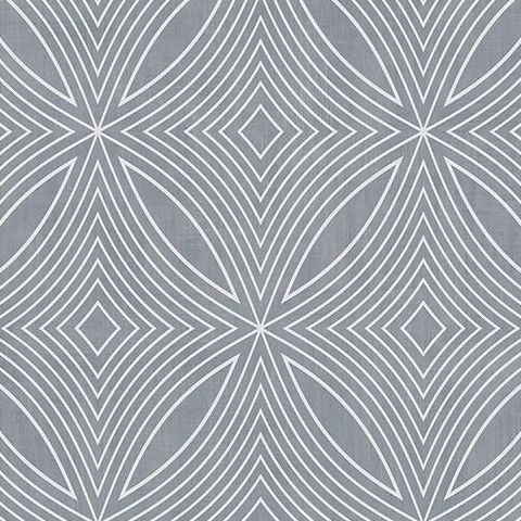Galerie Special FX Wallpaper-Spirograph  G67721 Porcelain/Silver
