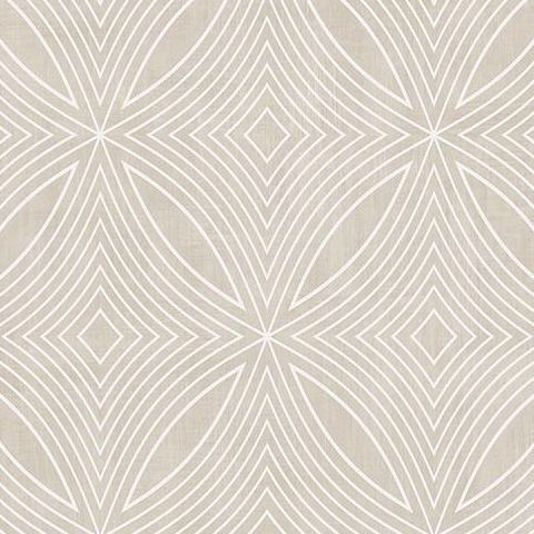 Galerie Special FX Wallpaper-Spirograph  G67722 Taupe/Silver