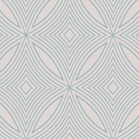 Galerie Special FX Wallpaper-Spirograph  G67727 Silver/Teal