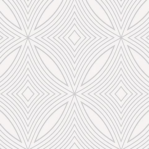 Galerie Special FX Wallpaper-Spirograph  G67731 Pearl/Silver