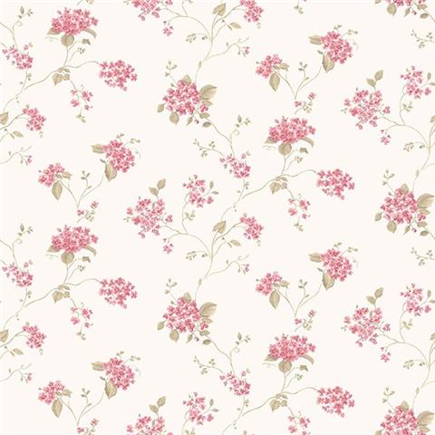 GALERIE MINIATURES 2 WALLPAPER- Bouquet G67866 pink/white