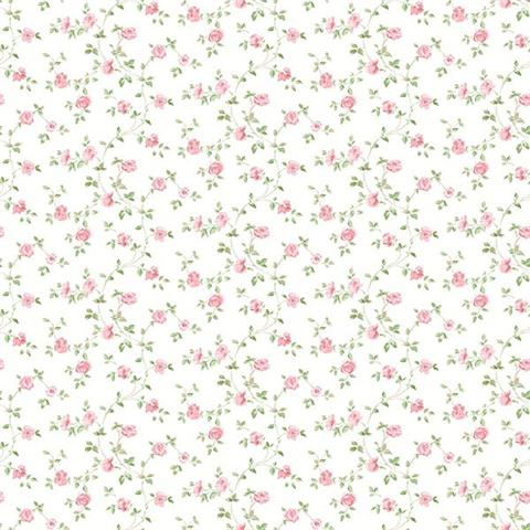 Galerie Miniatures 2 Wallpaper-Miniature Rose G67889 pink/white