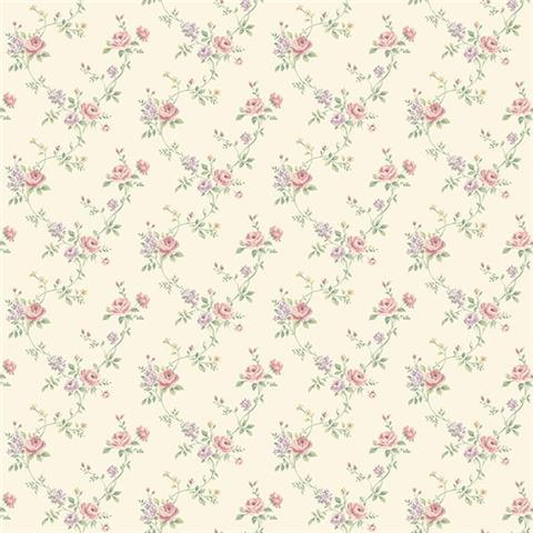GALERIE MINIATURES 2 WALLPAPER- Rose Trail G67895 rose/lilac