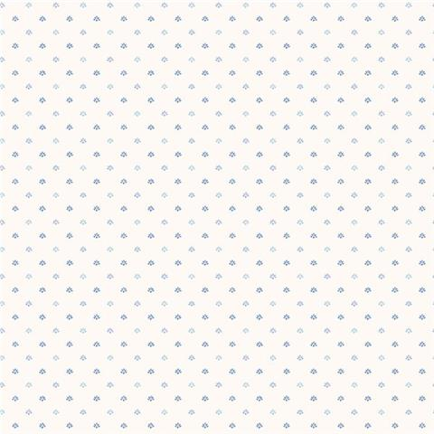 GALERIE MINIATURES 2 WALLPAPER-dotty print G67898 blue/white