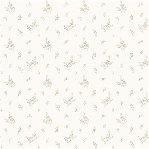 GALERIE MINIATURES 2 WALLPAPER-MINIATURE sprig G67916 taupe