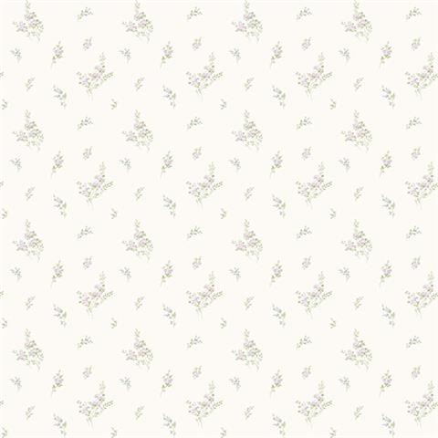 GALERIE MINIATURES 2 WALLPAPER-MINIATURE sprig G67919 lilac