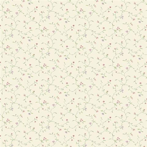 GALERIE MINIATURES 2 WALLPAPER-MINIATURE trail G67922 rose lilac