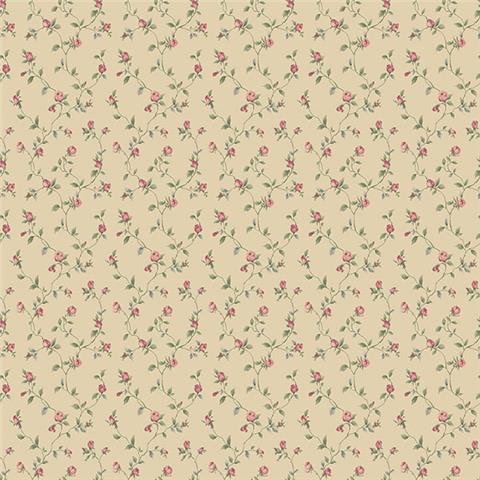 GALERIE MINIATURES 2 WALLPAPER-dolly mixtures g67934 rose/caramel