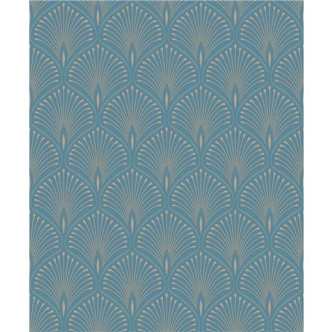 GrandecoLife Layla Art deco Wallpaper GV3104 teal
