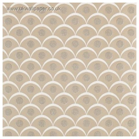 Harlequin Leonida Glass Beaded Wallpaper-Demi 110615 Antique Gold