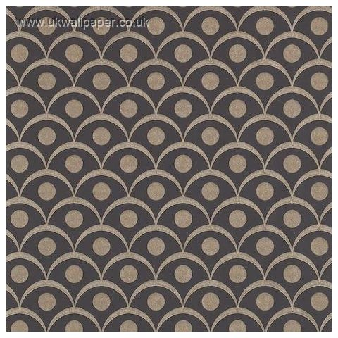 Harlequin Leonida Glass Beaded Wallpaper-Demi 110616 Onyx