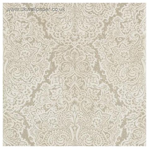 Harlequin Leonida Wallpaper-Aurelia 110640 White Gold