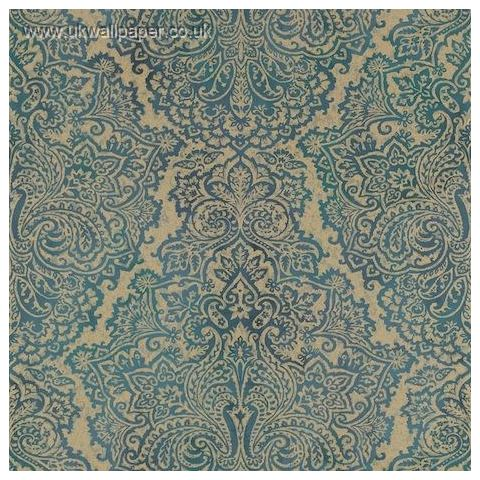 Harlequin Leonida Wallpaper-Aurelia 110643 Peacock