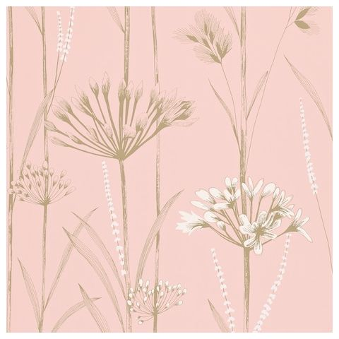 Harlequin Poetica Wallpaper-Gardinum 110559 Colour:-Blush, Chalk and Gold