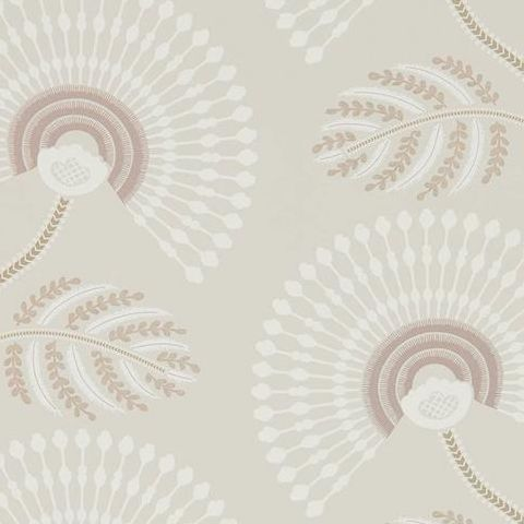 Harlequin Paloma Wallpaper-Louella 111911 Rose Quartz/Pearl