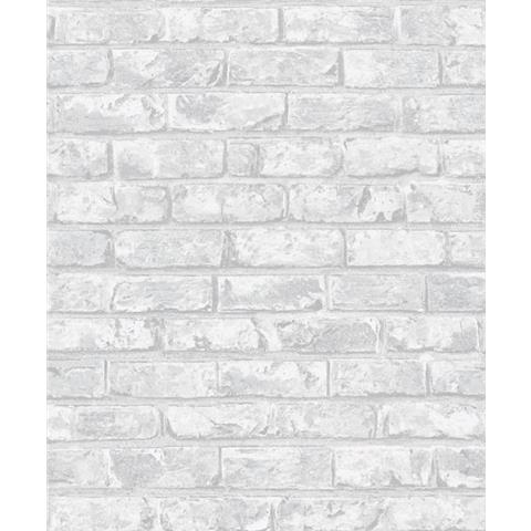 Grandeco Infinity Vertical Art Brick Wallpaper IF3301 Pale Grey