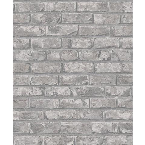 Grandeco Infinity Vertical Art Brick Wallpaper IF3302 Dark Grey