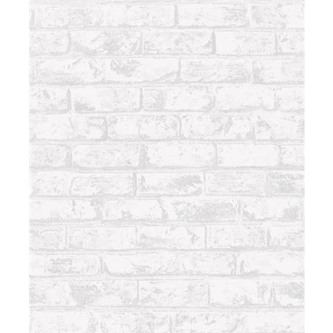 Grandeco Infinity Vertical Art Brick Wallpaper IF3303 White