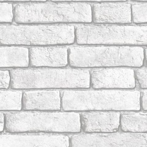 Muriva White Brick Wallpaper J30309