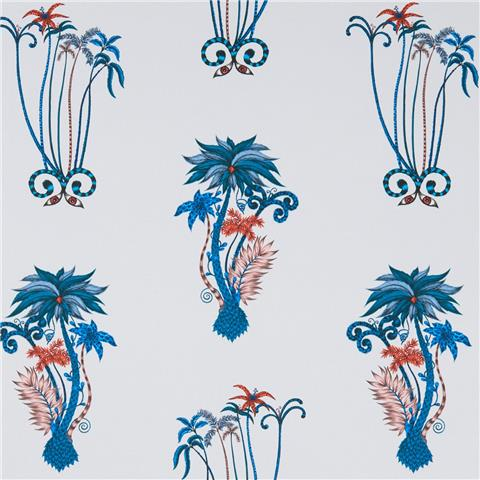CLARKE & CLARKE ANIMALIA WALLPAPER BY EMMA J SHIPLEY jungle palms W10101-01