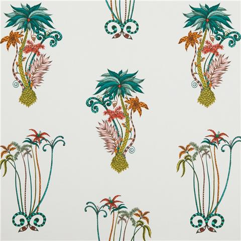 CLARKE & CLARKE ANIMALIA WALLPAPER BY EMMA J SHIPLEY jungle palms W0101-02
