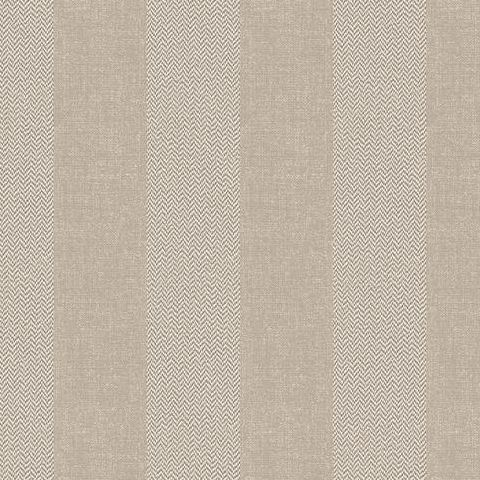 Crown Calico Cotton Tweed Stripe Wallpaper M1311 Hessian