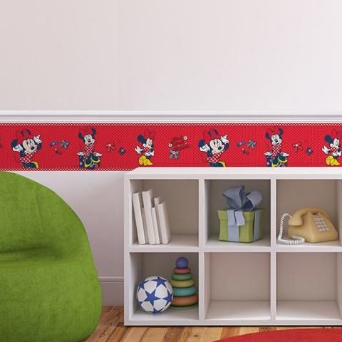 Minnie Mouse Red Bow Border 70-033
