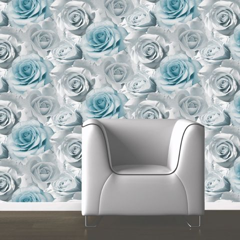 Muriva Madison Wallpaper Teal