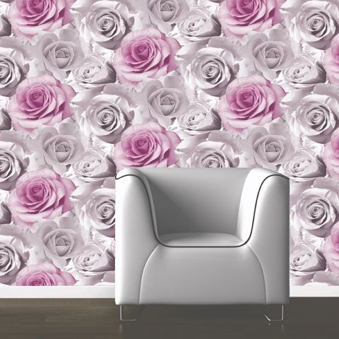 Muriva Madison Wallpaper Pink