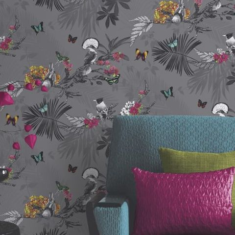 Arthouse Mystical Forest Wallpaper Slate