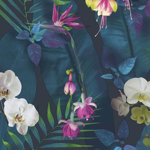 Arthouse Imagine Tropics Wallpaper Pindorama Navy/Teal