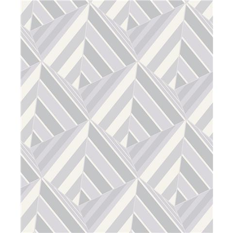 Grandeco Life Prism Geometric Wallpaper A38004 grey