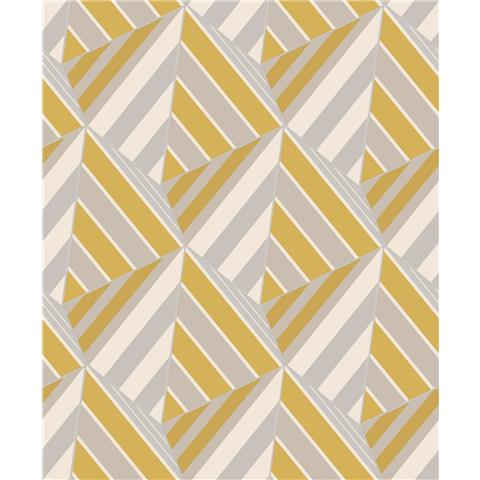 Grandeco Life Prism Geometric Wallpaper A38001 Yellow