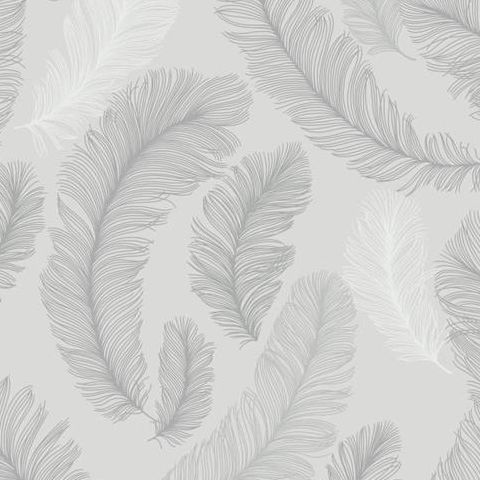 Grandeco Yasmine Feather Wallpaper RE2002 Grey