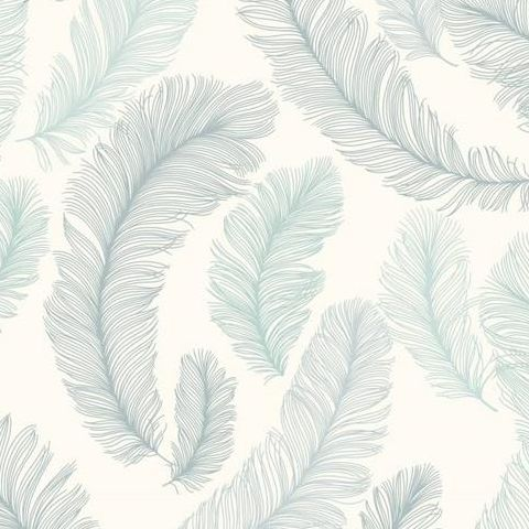 Grandeco Yasmine Feather Wallpaper RE2004 Teal