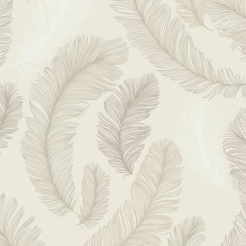 Grandeco Yasmine Feather Wallpaper RE2005 Taupe