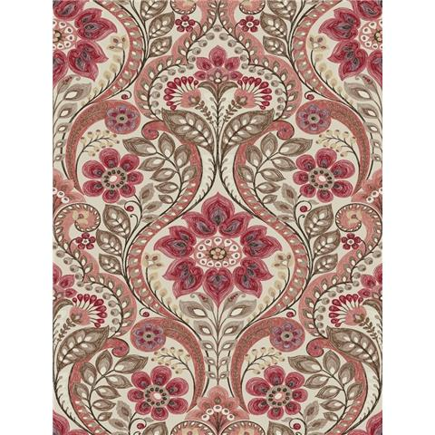 A Street Prints moonlight Wallpaper Night Bloom Shabby Chic Damask SCH12106 Reds