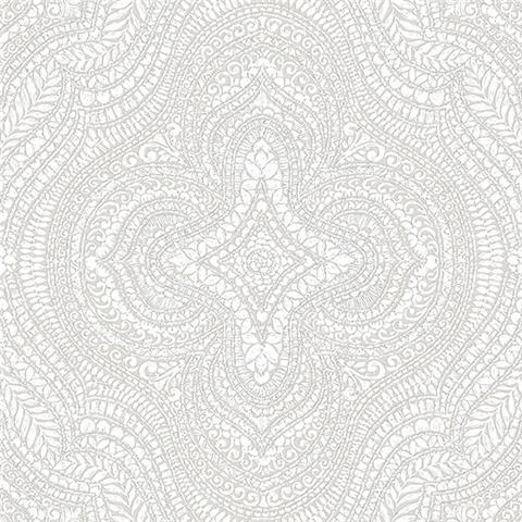 GALERIE ESSENTIALS WALLPAPER Paisley damask 20510