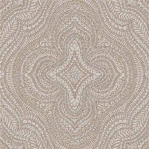 GALERIE ESSENTIALS WALLPAPER Paisley damask 20511