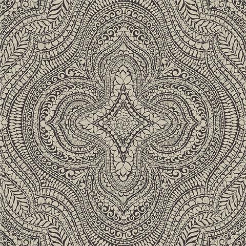 GALERIE ESSENTIALS WALLPAPER Paisley damask 20513