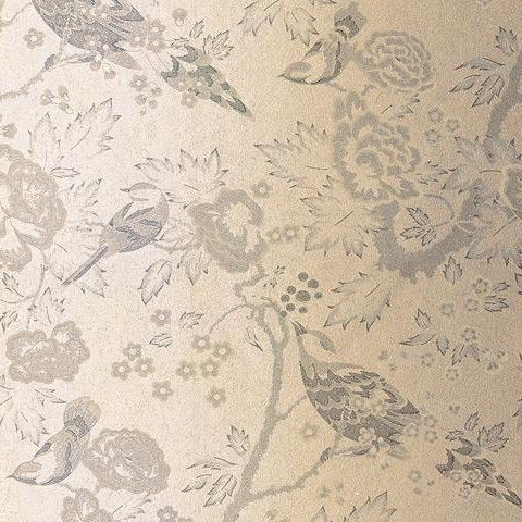 Anna French Wild Flora Songbirds Wallpaper-Gold