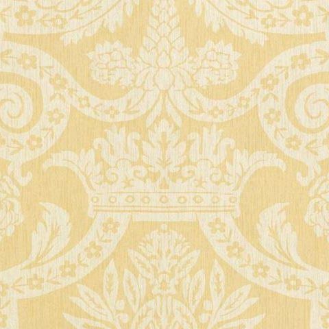 Thibaut Anniversary Havard Damask Wallpaper T6024 Yellow