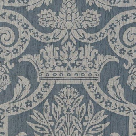 Thibaut Anniversary Havard Damask Wallpaper T6029 Pearl on Slate