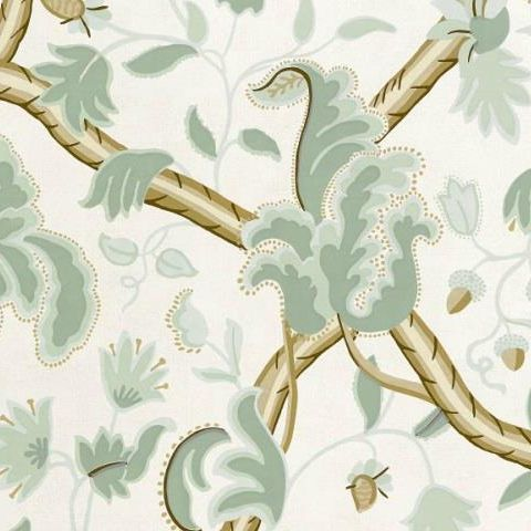 TThibaut Anniversary Demark Wallpaper T6030 Aqua and Cream