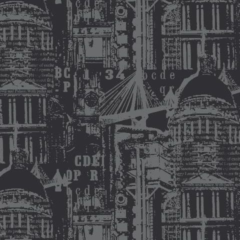 Arthouse The City Wallpaper Black/Silver