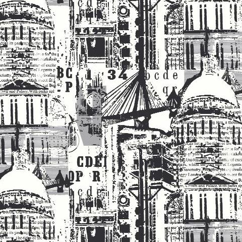 Arthouse The City Wallpaper Black/White