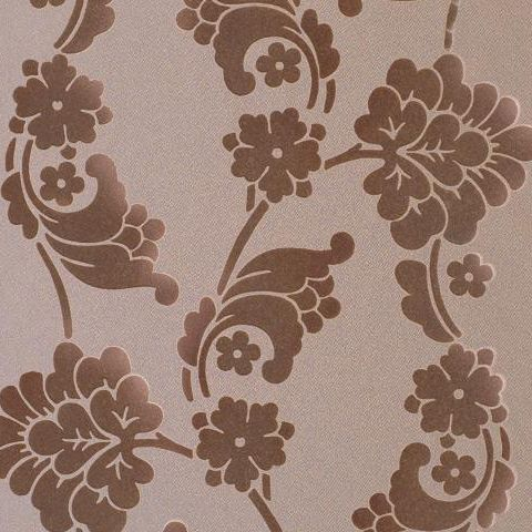 Anna French Wild Flora Velvet Jacquard-Flock Wallpaper-Mushroom