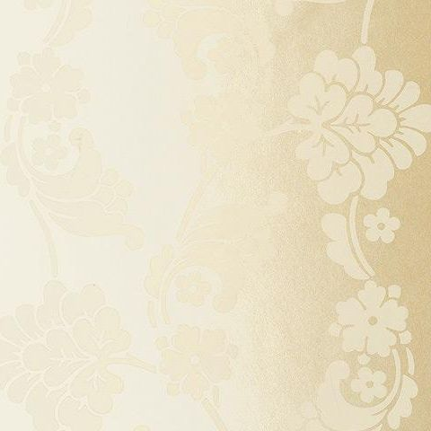 Anna French Wild Flora Velvet Jacquard Wallpaper-Cream